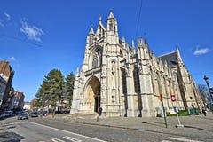 Domkyrka för Notre Dame du Sablon ` s i Bryssel, Belgien 2018 Royaltyfria Foton