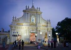 Domkyrka för obefläckad befruktning, Pondicherry, Indien royaltyfri fotografi