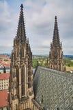 Domkyrka för Prague St Vitus Arkivfoto