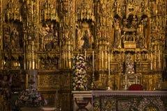 Domkyrka för Retablo borgmästareinf Seville, Seville, Andalusia, Spanien Arkivbilder