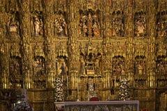 Domkyrka för Retablo borgmästareinf Seville, Seville, Andalusia, Spanien Arkivfoto