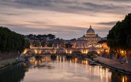 Domkyrka för Rome Italien - St Peter ` s i Rome Arkivfoto