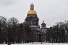 Domkyrka för ` s för St Petersburg St Isaac Arkivbilder