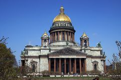 Domkyrka för ` s för St Isaac i St Petersburg, Ryssland royaltyfria bilder