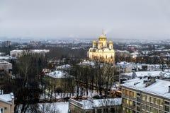 Domkyrka för siktsCatherine ` s och taken av staden på Ts Fotografering för Bildbyråer