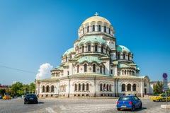 Domkyrka för St Alexander Nevsky Arkivbild
