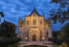 Domkyrka för St Barbara i Kutna Hora, Bohemia, Tjeckien Arkivfoton