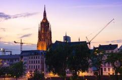 Domkyrka för St Bartholomaeus Dom i Frankfurt - f Royaltyfria Foton