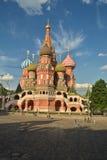 Domkyrka för St-basilika` s i Moskva Arkivbilder