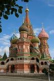 Domkyrka för St-basilika` s i Moskva, Ryssland Arkivbilder