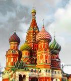 Domkyrka för St-basilika` s på den röda fyrkanten, Moskva, Ryssland Arkivbilder