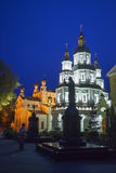 Domkyrka för St-basilika s på natten Arkivbilder
