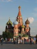 Domkyrka för St-basilika` s på röd fyrkant i Moskva Arkivbilder