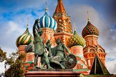 Domkyrka för St-basilika` s Pokrovsky i Moskva Royaltyfria Foton