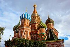 Domkyrka för St-basilika` s Pokrovsky i Moskva Royaltyfri Bild