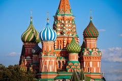 Domkyrka för St-basilika` s Pokrovsky i Moskva Arkivfoton