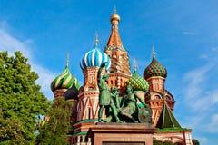 Domkyrka för St-basilika` s Pokrovsky i Moskva Royaltyfri Fotografi