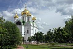Domkyrka för St Catherines, Pushkin Royaltyfri Foto