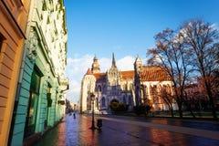 Domkyrka för St Elisabet i Kosice, Slovakien Royaltyfria Bilder