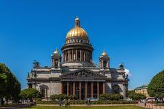 Domkyrka för St Isaacs, Petersburg, Ryssland Fotografering för Bildbyråer