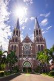 Domkyrka för St Mary ` s i Yangon, Myanmar arkivbild