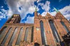 Domkyrka för St Marys i gammal town av Gdansk, Polen Arkivbild