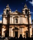 Domkyrka för St Paul ` s i Mdina, Malta arkivbild