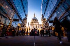 Domkyrka för St Paul ` s, London, England, Förenade kungariket Arkivbild