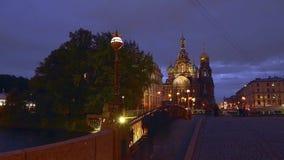 Domkyrka för St Petersburg Tid schackningsperiodfotografi på det spillda blodet lager videofilmer