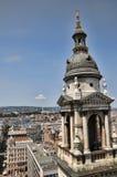 Domkyrka för St Stephans i den Budapest Ungern Arkivfoto