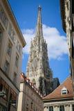 Domkyrka för St Stephans, Wien, Österrike Fotografering för Bildbyråer