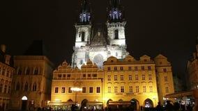 Domkyrka för St Vitus Cathedral Roman Catholic i den Prague slotten, Tjeckien stock video