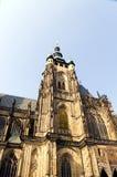 Domkyrka för St. Vitus i Prague Royaltyfri Bild