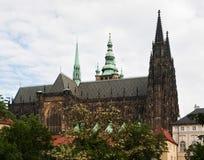 Domkyrka för St Vitus i Prague Fotografering för Bildbyråer