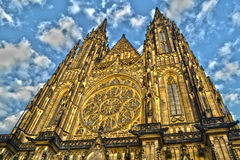 Domkyrka för St Vitus i Prague Arkivfoton