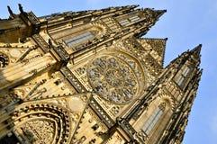 Domkyrka för St Vitus, Prague Arkivbild