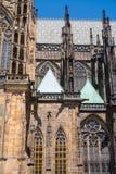 Domkyrka för St Vitus för Tjeckien Prague, gotisk stilkyrka 2017 08 01 Historisk byggnad, härlig domkyrka i Prague Arkivbilder