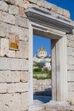 Domkyrka för St. Vladimir i Chersonesus, Crimea Arkivbilder