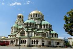 Domkyrkaför TheSt AlexanderNevskyav den bulgariska ortodoxa kyrkan i Sofia Royaltyfria Bilder