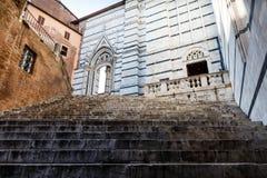 Domkyrka för trappa upp till av Siena Arkivfoto