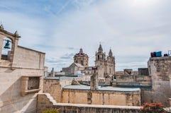 Domkyrka f?r Saint Paul ` s i Mdina, Malta arkivfoto