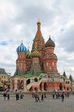 Domkyrka f?r St-basilika` s p? r?d fyrkant i Moskva arkivbild