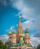 Domkyrka f?r St-basilika` s p? den r?da fyrkanten i Moskva, Ryssland royaltyfri bild