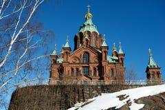 domkyrka finland uspensky helsinki Arkivbilder