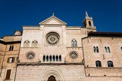 Domkyrka Foligno, Umbria arkivbild