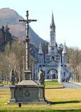 Domkyrka-fristad av Lourdes France Royaltyfri Fotografi