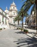 Domkyrka fyrkantiga ragusa Sicilien Italien Europa Arkivbilder