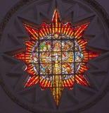 Domkyrka Granada Spanien för helig ande för målat glassänglar royaltyfri fotografi