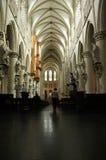 Domkyrka i Bryssel arkivfoton