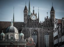 Domkyrka i den Gdansk staden, Polen Arkivfoton